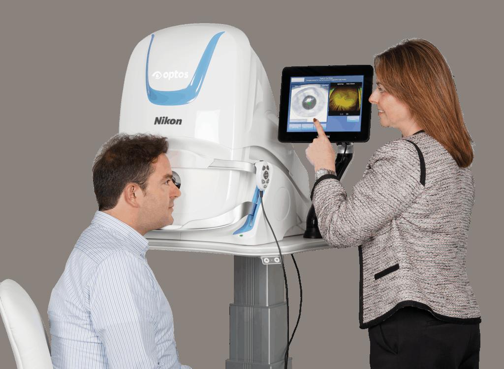 Optos eye scanner