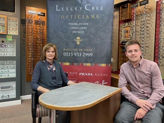 Lesley Cree Opticians and Ben Cree